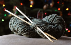 Needles and yarn
